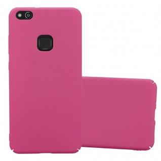Cadorabo Hülle für Huawei P10 LITE in FROSTY PINK - Hardcase Handyhülle aus Plastik gegen Kratzer und Stöße - Schutzhülle Bumper Ultra Slim Back Case Hard Cover