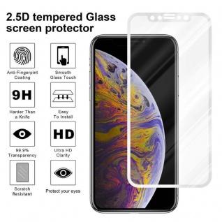 Cadorabo Vollbild Panzer Folie für Apple iPhone XS MAX - Schutzfolie in TRANSPARENT mit WEISS - Gehärtetes (Tempered) Display-Schutzglas in 9H Härte mit 3D Touch Kompatibilität - Vorschau 4