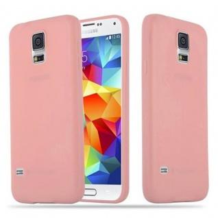 Cadorabo Hülle für Samsung Galaxy S5 / S5 NEO in CANDY ROSA - Handyhülle aus flexiblem TPU Silikon - Silikonhülle Schutzhülle Ultra Slim Soft Back Cover Case Bumper