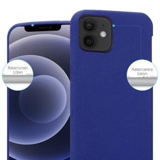 "Cadorabo Hülle für Apple iPhone 12 Mini (5, 4"" Zoll) in FROST DUNKEL BLAU Handyhülle aus flexiblem TPU Silikon Silikonhülle Schutzhülle Ultra Slim Soft Back Cover Case Bumper"