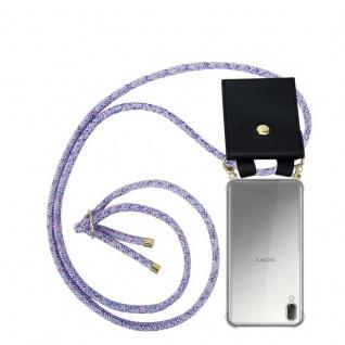 Cadorabo Handy Kette für Sony Xperia L3 in UNICORN - Silikon Necklace Umhänge Hülle mit Gold Ringen, Kordel Band Schnur und abnehmbarem Etui ? Schutzhülle