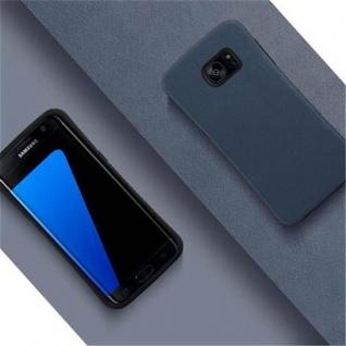 Cadorabo Hülle für Samsung Galaxy S7 EDGE - Hülle in MEERES BLAU - Small Waist Handyhülle mit rutschfestem Gummi-Rücken - Hard Case TPU Silikon Schutzhülle - Vorschau 2