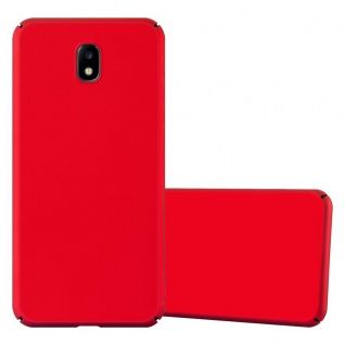 Cadorabo Hülle für Samsung Galaxy J7 2017 in METALL ROT ? Hardcase Handyhülle aus Plastik gegen Kratzer und Stöße ? Schutzhülle Bumper Ultra Slim Back Case Hard Cover