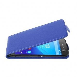 Cadorabo Hülle für Sony Xperia M5 in KÖNIGS BLAU - Handyhülle im Flip Design aus strukturiertem Kunstleder - Case Cover Schutzhülle Etui Tasche Book Klapp Style