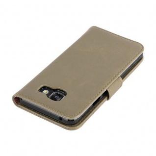 Cadorabo Hülle für Samsung Galaxy A3 2016 in CAPPUCCINO BRAUN ? Handyhülle mit Magnetverschluss, Standfunktion und Kartenfach ? Case Cover Schutzhülle Etui Tasche Book Klapp Style - Vorschau 4