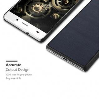 Cadorabo Hülle für Huawei P8 LITE 2015 in WOODY BLAU ? Hardcase Handyhülle aus Plastik gegen Kratzer und Stöße ? Schutzhülle Bumper Ultra Slim Back Case Hard Cover - Vorschau 2