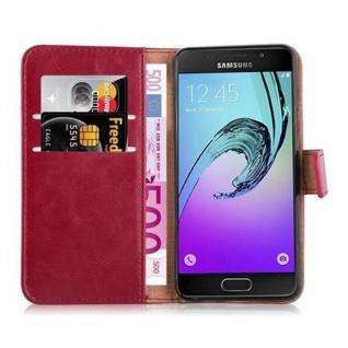 Cadorabo Hülle für Samsung Galaxy A3 2016 in WEIN ROT - Handyhülle mit Magnetverschluss, Standfunktion und Kartenfach - Case Cover Schutzhülle Etui Tasche Book Klapp Style - Vorschau 5