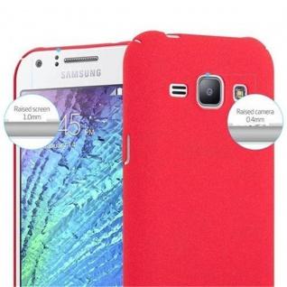 Cadorabo Hülle für Samsung Galaxy J1 2015 in FROSTY ROT - Hardcase Handyhülle aus Plastik gegen Kratzer und Stöße - Schutzhülle Bumper Ultra Slim Back Case Hard Cover - Vorschau 5