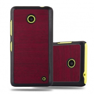 Cadorabo Hülle für Nokia Lumia 630 in WOODY ROT - Hardcase Handyhülle aus Plastik gegen Kratzer und Stöße - Schutzhülle Bumper Ultra Slim Back Case Hard Cover
