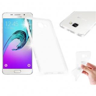 Cadorabo Hülle für Samsung Galaxy A5 2016 (6) - Hülle in TRANSPARENT WEIß - Handyhülle aus TPU Silikon im Strass Design - Silikonhülle Schutzhülle Ultra Slim Soft Back Cover Case Bumper