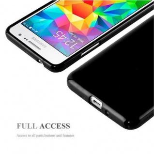 Cadorabo Hülle für Samsung Galaxy GRAND PRIME in JELLY SCHWARZ ? Handyhülle aus flexiblem TPU Silikon ? Silikonhülle Schutzhülle Ultra Slim Soft Back Cover Case Bumper - Vorschau 4