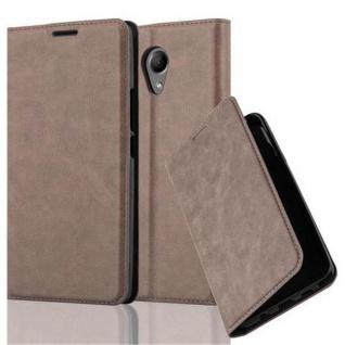 Cadorabo Hülle für WIKO ROBBY in KAFFEE BRAUN - Handyhülle mit Magnetverschluss, Standfunktion und Kartenfach - Case Cover Schutzhülle Etui Tasche Book Klapp Style