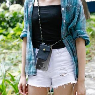 Cadorabo Handy Kette für Samsung Galaxy J1 2015 in CAMOUFLAGE ? Silikon Necklace Umhänge Hülle mit Gold Ringen, Kordel Band Schnur und abnehmbarem Etui ? Schutzhülle - Vorschau 3