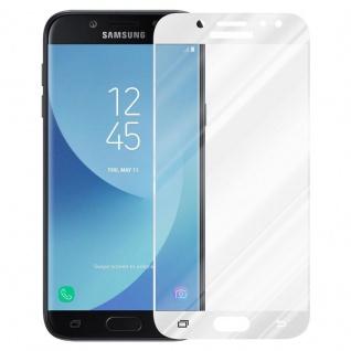 Cadorabo Vollbild Panzer Folie für Samsung Galaxy J7 2017 - Schutzfolie in TRANSPARENT mit WEISS - Gehärtetes (Tempered) Display-Schutzglas in 9H Härte mit 3D Touch Kompatibilität - Vorschau 2