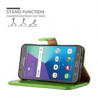 Cadorabo Hülle für Samsung Galaxy J7 2017 US Version in GRAS GRÜN ? Handyhülle mit Magnetverschluss, Standfunktion und Kartenfach ? Case Cover Schutzhülle Etui Tasche Book Klapp Style - Vorschau 5