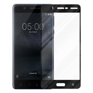 Cadorabo Vollbild Panzer Folie für Nokia 5.1 2018 - Schutzfolie in TRANSPARENT mit SCHWARZ - Gehärtetes (Tempered) Display-Schutzglas in 9H Härte mit 3D Touch Kompatibilität - Vorschau 2