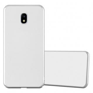 Cadorabo Hülle für Samsung Galaxy J3 2017 in METALL SILBER ? Hardcase Handyhülle aus Plastik gegen Kratzer und Stöße ? Schutzhülle Bumper Ultra Slim Back Case Hard Cover