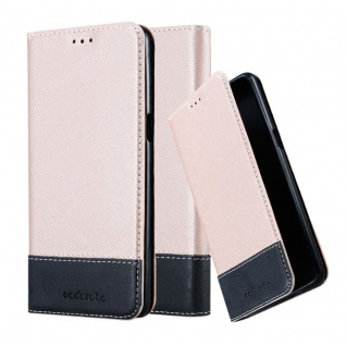 Cadorabo Hülle für OnePlus 3 / 3T in ROSÉ GOLD SCHWARZ ? Handyhülle mit Magnetverschluss, Standfunktion und Kartenfach ? Case Cover Schutzhülle Etui Tasche Book Klapp Style