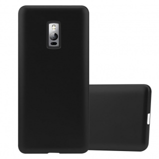 Cadorabo Hülle für OnePlus 2 in METALLIC SCHWARZ - Handyhülle aus flexiblem TPU Silikon - Silikonhülle Schutzhülle Ultra Slim Soft Back Cover Case Bumper