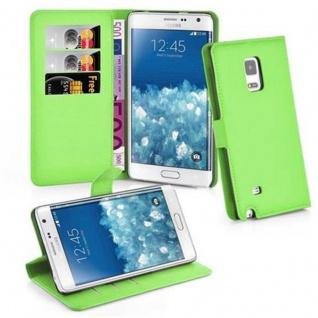 Cadorabo Hülle für Samsung Galaxy NOTE EDGE - Hülle in MINZ GRÜN ? Handyhülle mit Kartenfach und Standfunktion - Case Cover Schutzhülle Etui Tasche Book Klapp Style
