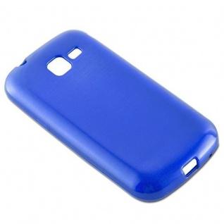 Cadorabo Hülle für Samsung Galaxy TREND in BLAU - Handyhülle aus flexiblem TPU Silikon - Silikonhülle Schutzhülle Ultra Slim Soft Back Cover Case Bumper - Vorschau 3