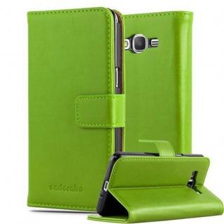 Cadorabo Hülle für Samsung Galaxy GRAND PRIME in GRAS GRÜN ? Handyhülle mit Magnetverschluss, Standfunktion und Kartenfach ? Case Cover Schutzhülle Etui Tasche Book Klapp Style