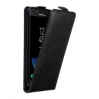 Cadorabo Hülle für Samsung Galaxy J5 2017 in NACHT SCHWARZ Handyhülle im Flip Design mit unsichtbarem Magnetverschluss Case Cover Schutzhülle Etui Tasche Book Klapp Style