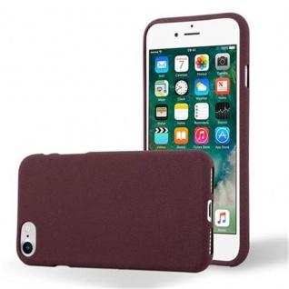 Cadorabo Hülle für Apple iPhone 7 / iPhone 7S / iPhone 8 in FROST BORDEAUX LILA - Handyhülle aus flexiblem TPU Silikon - Silikonhülle Schutzhülle Ultra Slim Soft Back Cover Case Bumper