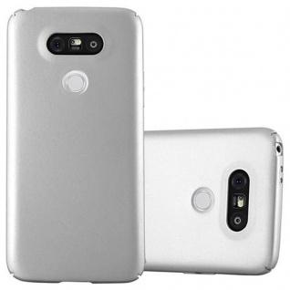 Cadorabo Hülle für LG G5 in METALL SILBER Hardcase Handyhülle aus Plastik gegen Kratzer und Stöße Schutzhülle Bumper Ultra Slim Back Case Hard Cover