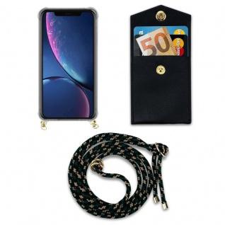 Cadorabo Handy Kette für Apple iPhone 11 PRO MAX (XI PRO MAX) in CAMOUFLAGE - Silikon Necklace Umhänge Hülle mit Gold Ringen, Kordel Band Schnur und abnehmbarem Etui - Schutzhülle - Vorschau 5