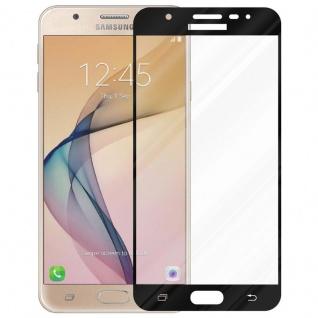 Cadorabo Vollbild Panzer Folie für Samsung Galaxy J7 PRIME / ON7 2016 - Schutzfolie in TRANSPARENT mit SCHWARZ - Gehärtetes (Tempered) Display-Schutzglas in 9H Härte mit 3D Touch Kompatibilität - Vorschau 2