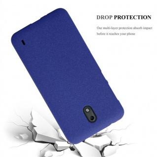 Cadorabo Hülle für Nokia 2 2017 in FROST DUNKEL BLAU - Handyhülle aus flexiblem TPU Silikon - Silikonhülle Schutzhülle Ultra Slim Soft Back Cover Case Bumper - Vorschau 3