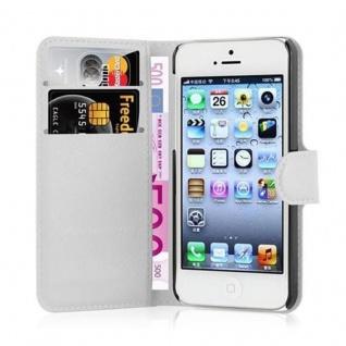 Cadorabo Hülle für Apple iPhone 5 / iPhone 5S / iPhone SE in ARKTIS WEIß - Handyhülle mit Magnetverschluss, Standfunktion und Kartenfach - Case Cover Schutzhülle Etui Tasche Book Klapp Style - Vorschau 2
