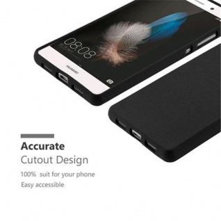 Cadorabo Hülle für Huawei P8 LITE 2015 in FROST SCHWARZ - Handyhülle aus flexiblem TPU Silikon - Silikonhülle Schutzhülle Ultra Slim Soft Back Cover Case Bumper - Vorschau 2