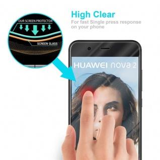 Cadorabo Panzer Folie für Huawei NOVA 2 Schutzfolie in KRISTALL KLAR Gehärtetes (Tempered) Display-Schutzglas in 9H Härte mit 3D Touch Kompatibilität - Vorschau 5
