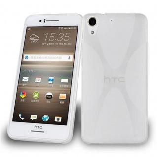 Cadorabo Hülle für HTC Desire 728 in HALB TRANSPARENT ? Handyhülle aus flexiblem TPU Silikon ? Silikonhülle Schutzhülle Ultra Slim Soft Back Cover Case Bumper
