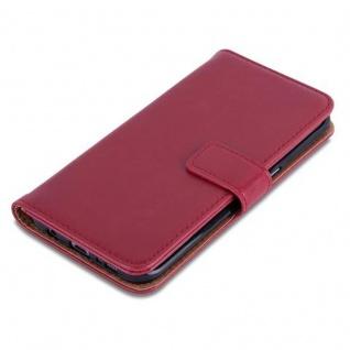 Cadorabo Hülle für Samsung Galaxy S7 EDGE in WEIN ROT ? Handyhülle mit Magnetverschluss, Standfunktion und Kartenfach ? Case Cover Schutzhülle Etui Tasche Book Klapp Style - Vorschau 4