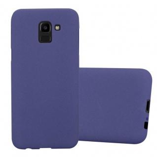 Cadorabo Hülle für Samsung Galaxy J6 2018 in FROST DUNKEL BLAU - Handyhülle aus flexiblem TPU Silikon - Silikonhülle Schutzhülle Ultra Slim Soft Back Cover Case Bumper