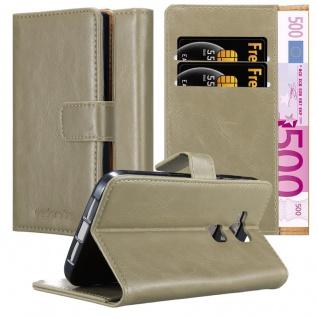 Cadorabo Hülle für Huawei G7 PLUS / G8 / GX8 in CAPPUCCINO BRAUN ? Handyhülle mit Magnetverschluss, Standfunktion und Kartenfach ? Case Cover Schutzhülle Etui Tasche Book Klapp Style