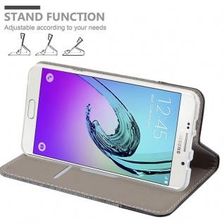 Cadorabo Hülle für Samsung Galaxy A7 2016 in GRAU SCHWARZ - Handyhülle mit Magnetverschluss, Standfunktion und Kartenfach - Case Cover Schutzhülle Etui Tasche Book Klapp Style - Vorschau 4