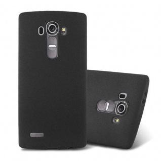 Cadorabo Hülle für LG G4 / G4 PLUS in FROST SCHWARZ - Handyhülle aus flexiblem TPU Silikon - Silikonhülle Schutzhülle Ultra Slim Soft Back Cover Case Bumper
