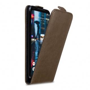 Cadorabo Hülle für Google Pixel 2 XL in KAFFEE BRAUN - Handyhülle im Flip Design mit Magnetverschluss - Case Cover Schutzhülle Etui Tasche Book Klapp Style