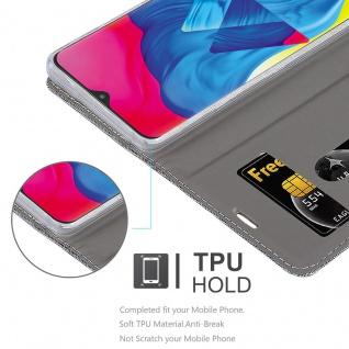 Cadorabo Hülle für Samsung Galaxy M10 in HELL GRAU BRAUN - Handyhülle mit Magnetverschluss, Standfunktion und Kartenfach - Case Cover Schutzhülle Etui Tasche Book Klapp Style