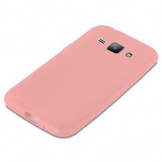 Cadorabo Hülle für Samsung Galaxy J1 2015 in CANDY ROSA - Handyhülle aus flexiblem TPU Silikon - Silikonhülle Schutzhülle Ultra Slim Soft Back Cover Case Bumper - Vorschau 4