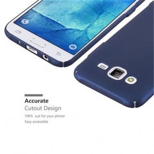 Cadorabo Hülle für Samsung Galaxy J5 2015 in METALL BLAU - Hardcase Handyhülle aus Plastik gegen Kratzer und Stöße - Schutzhülle Bumper Ultra Slim Back Case Hard Cover - Vorschau 3