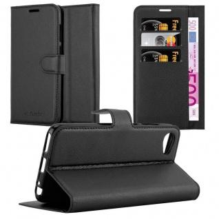 Cadorabo Hülle für HTC Desire 12 in PHANTOM SCHWARZ - Handyhülle mit Magnetverschluss, Standfunktion und Kartenfach - Case Cover Schutzhülle Etui Tasche Book Klapp Style