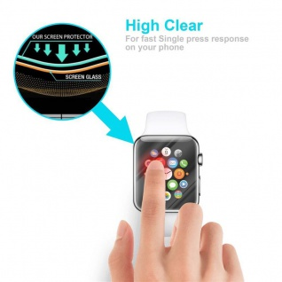 Cadorabo Panzer Folie für Apple Watch Series 1 & 2 42mm Schutzfolie in KRISTALL KLAR Gehärtetes (Tempered) Display-Schutzglas in 9H Härte mit 3D Touch Kompatibilität - Vorschau 5