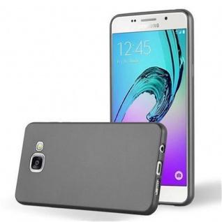 Cadorabo Hülle für Samsung Galaxy A3 2016 in METALLIC GRAU - Handyhülle aus flexiblem TPU Silikon - Silikonhülle Schutzhülle Ultra Slim Soft Back Cover Case Bumper