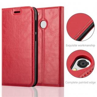 Cadorabo Hülle für ZTE BLADE A6 in APFEL ROT Handyhülle mit Magnetverschluss, Standfunktion und Kartenfach Case Cover Schutzhülle Etui Tasche Book Klapp Style - Vorschau 2