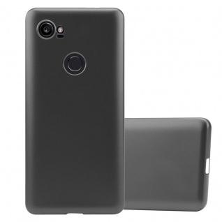 Cadorabo Hülle für Google Pixel 2 XL in METALLIC GRAU - Handyhülle aus flexiblem TPU Silikon - Silikonhülle Schutzhülle Ultra Slim Soft Back Cover Case Bumper